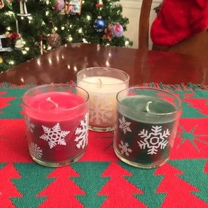 PartyLite Christmas Jar Candle Trio